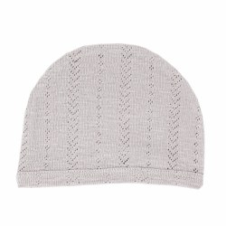Pointelle Hat Light Grey 3-6m