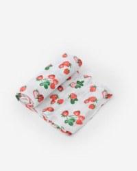 Muslin Swaddle Strawberry Patch
