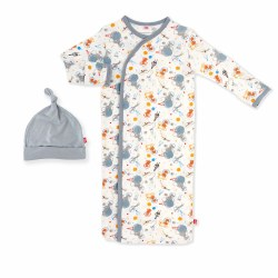 Gown Set Astro Pups NB
