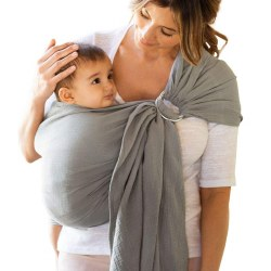 Gauze Ring Sling Pewter
