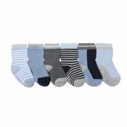 Socks Benjamin Blue 6pk 12-24m