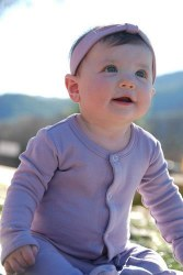 Footie Preemie Lavender