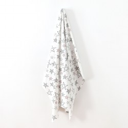 Swaddle Blanket Pink Star