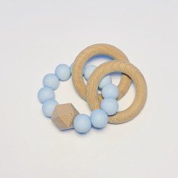 Double Ring Teether Blue