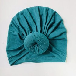 Baby Top Knot Hat Peacock