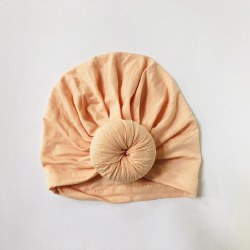 Baby Top Knot Hat Peach