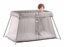 Travel Crib Easy Go Greige Mesh
