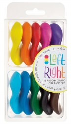 Left Right Crayons