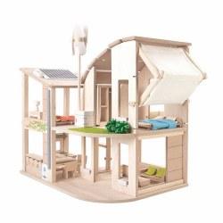 Green Dollhouse w/ Furniture