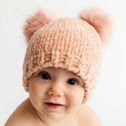 Champagne Chenille Hat 0-6m