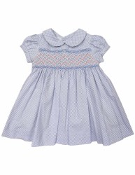Blue Summer Smocked Dress 1Y