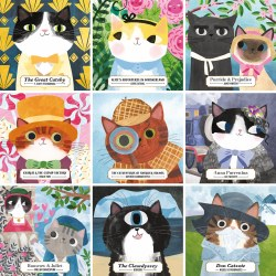 Bookish Cats 500 pc Puzzle
