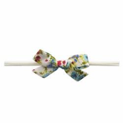 Cotton Print Bow Turquoise Flo