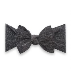 Shimmer Knot Headband Black