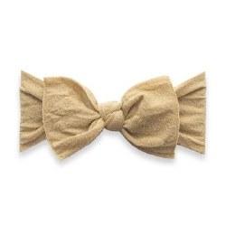 Shimmer Knot Headband Gold