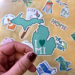 I heart MI Mitten Sticker