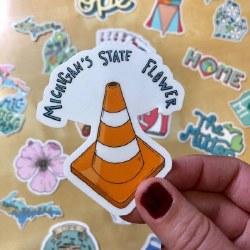 Michigan State Flower Sticker