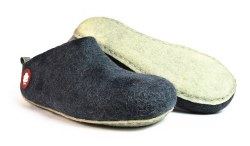 Gus Wool Slipper Grey 34
