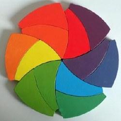 Wooden Color Wheel