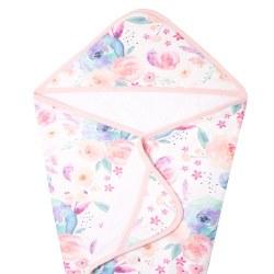 Knit Hooded Towel Bloom