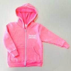 Kids Zip Up Hoodie Pink 12