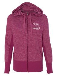 Women's Zip Hoodie Berry Small