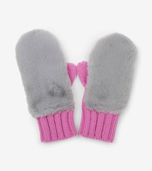 Faux Fur Mittens Large