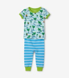 S/S PJ Set Hawaiian 9-12m