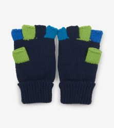 Navy Finger Flip Mittens Large