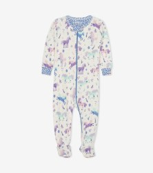 Footed Coverall Ponies 0-3m
