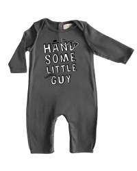 Handsome Romper Grey 3-6m