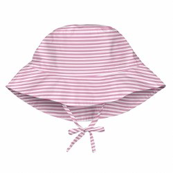 Bucket Hat Pink Stripe 9-18m