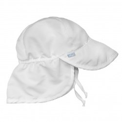 Flap Sun Hat White NB