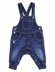 Tiger Denim Knit Overall 3-6m