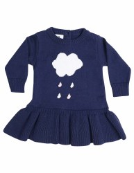 Raindrops Knit Dress 6-12m