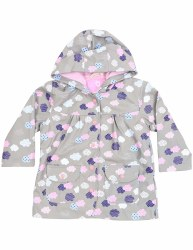 Raincoat Grey Raindrops 4Y