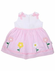Flower Seersucker Dress 6-12m