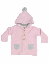 Knit Jacket Baba Sheep Pink 2Y