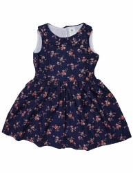 Navy Floral Dress 4Y