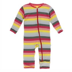 Coverall Bio Stripe 12-18m