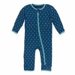 Coverall Navy Lattice 9-12m