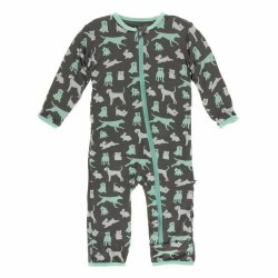 Coverall Stone Animals 0-3m