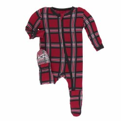 Footie Christmas Plaid 0-3m