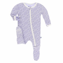 Footie Lilac Double Helix 0-3m
