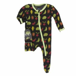 Footie Zebra Veggies 3-6m