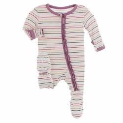 Muffin Footie Heroes Multi Stripe 3-6m