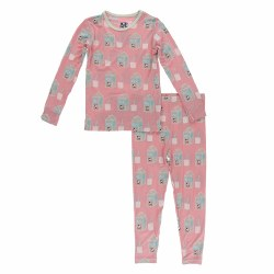 L/S PJ Strawberry Milk 3T