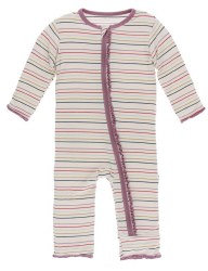 Ruffle Coverall Heroes Multi Stripe 18-24m