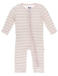 Ruffle Coverall Sweet Stripe 9-12m