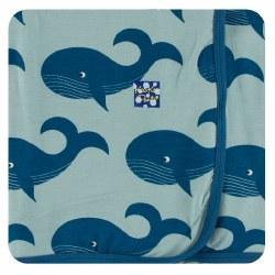 Swaddling Blankets Jade Whales